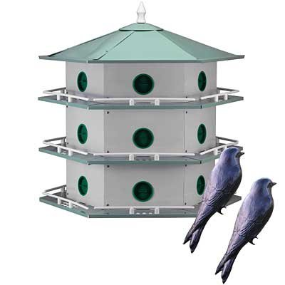 - BestNest Heath 18-Room Deluxe Purple Martin House with Decoys
