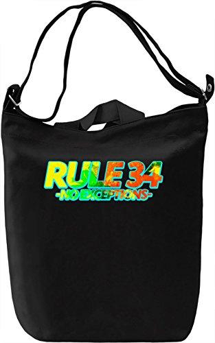 Rule 34 Borsa Giornaliera Canvas Canvas Day Bag| 100% Premium Cotton Canvas| DTG Printing|