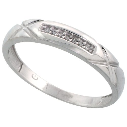 10k White Gold Mens Diamond We