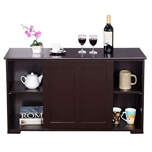 Dining Room Maple Cupboard - Cypressshop Kitchen Pantry Storage Cabinet Sideboard Buffet Cupboard Wood Sliding Door Dinning Pantry Organizer Furniture Home Decor