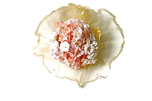 n.65 100 Pcs Double Layer Daisy Light Pink Tone Mulberry Paper Flower Mixed Scrapbooking Wedding