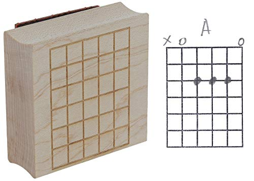 Guitar Chord Chart Rubber Wood Stamp - Perfect for Teachers and Songwriters - 5 Frets