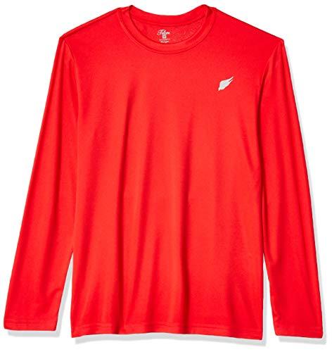 MI Falcon Boys' Full Sleeve Top Performance T-Shirt True Red Youth Medium (10-12)