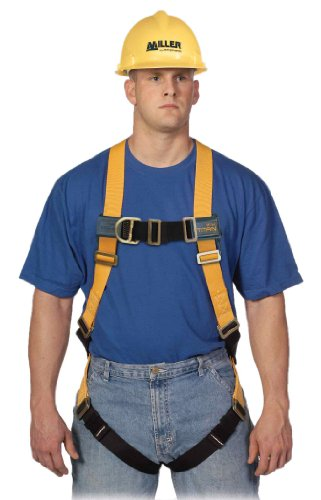 Miller Titan by Honeywell TF4000FD/XXLAK Polyester T-Flex Stretchable Harness with Front D-Ring Vest-Style, XX-Large