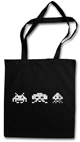DIGITAL INVADERS HIPSTER BAG – Jeu Arcade Game Retro Nerd Alien VG Sprite Space 80s Eighties Konsole Console