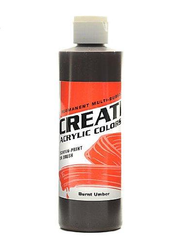 Createx Acrylic Colors burnt umber 8 oz. [PACK OF 3 ]