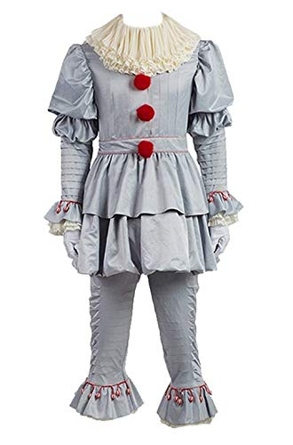Adult Pennywise's Costumes Jokers Cosplay Outfit for Halloween