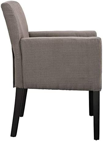 Hawthorne Collections Farmhouse Design Upholstered Fabric Accent Dining Chair in Gray Set of 4