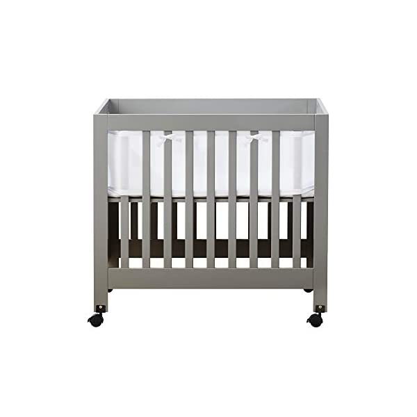 BreathableBaby Classic Breathable Mesh Mini Crib Liner – White