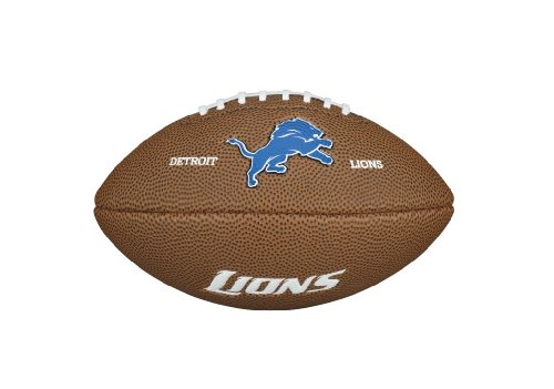 Wilson WTF1533IDDT NFL Team Logo Mini Size Football - Detroit Lions Detroit Lions Team Logo Ball