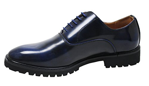 man's uomo mocassini eleganti Scarpe cerimonia shoes scuro blu xCXnZf5