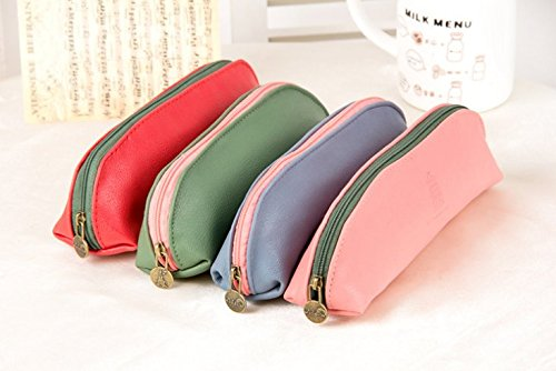 Student Pen Pencil Case Coin Purse Pouch Cosmetic Makeup Bag Set of (4 Inch Coin Set)