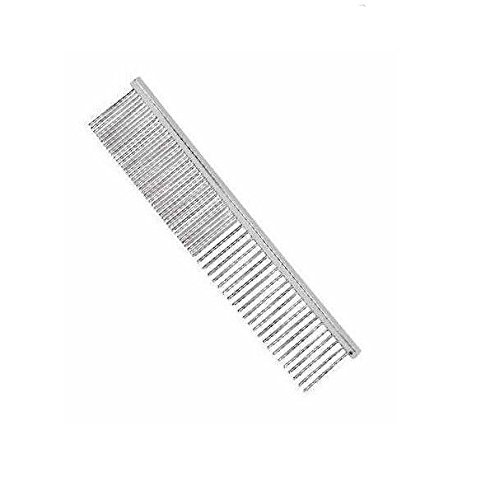 Professional Dog Grooming Greyhound Combs for Dogs Chrome Comb - Choose Size (Face/Finishing Comb) by Master Grooming