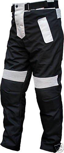 German Wear Motorradhose Cordura Textilien Motorrad Hose Kombihose, Schwarz/Grau, 54