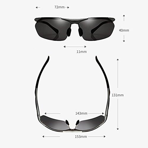soleil de lunettes soleil soleil nouvelles polarisées de coréen Grauer Lunettes pour de lunettes Rahmen hommes Z58xwfXnq