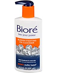 Biore Blemish Fighting Ice Cleanser, 6.77 Ounces