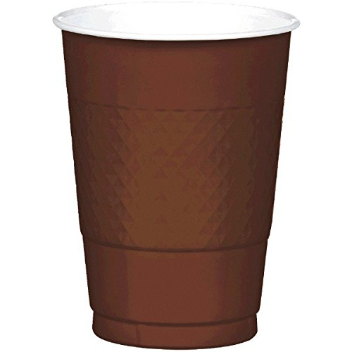 Chocolate Brown Plastic Cups | 16 oz. | Pack of 20 | Party -