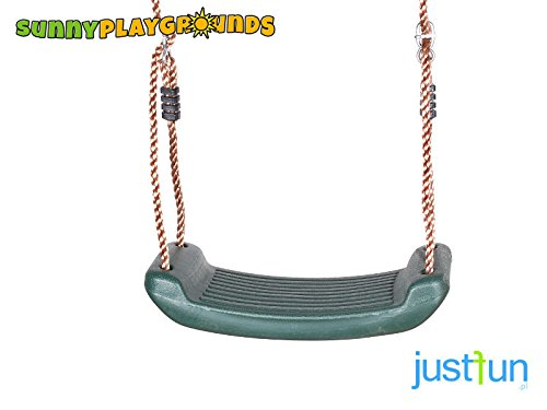 SWING SEAT GREEN with FREE ROPE-Outdoor and Indoor Playground Swing Set Accessories for (Molded Swing Seat)