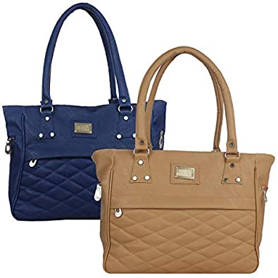 cebed824531e6 Element Cart Women s Pu Leather Blue and Brown Colour PU Material Pack of 2 Hand  Bags(ECT-011 EC-1007)  Amazon.in  Shoes   Handbags