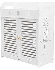 Bathroom Cabinet,Waterproof Double Door Home Bathroom Wall Cabinet Cupboard Rack Storage Organizer
