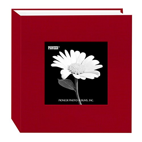 Pioneer 100 Pocket Fabric Frame Cover Photo Album, Apple Red