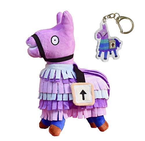Wepop Smashing Thing Loot Llama Plush Stuffed Toy Doll Firgure, Troll Stash Animal Alpaca Gift for Kids Girls Boys Children with Keychain