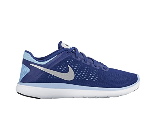 Nike Flex 2016 Rn (Gs), Zapatillas de Running para Niñas Azul (Deep Royal Blue / Metallic Silver-Black)