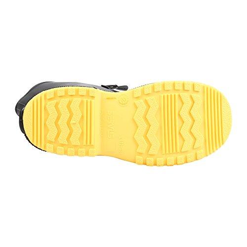 "Servus SuperFit 12"" PVC Dual-Compound Men's Overboots, Black & Yellow (11001-Bagged) - Image 3"