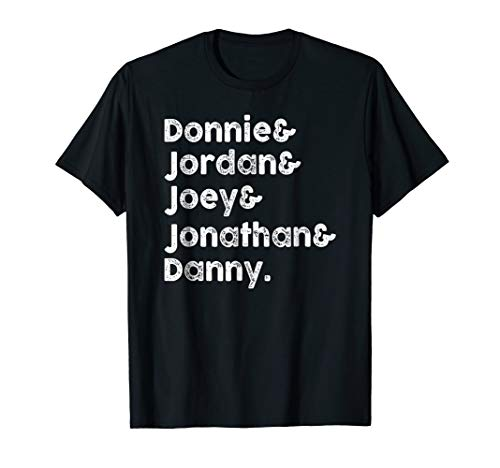 Graphic Mens Jordan Classic Tee (Donnie & Jordan & Joey & Jonathan & Danny Shirt)