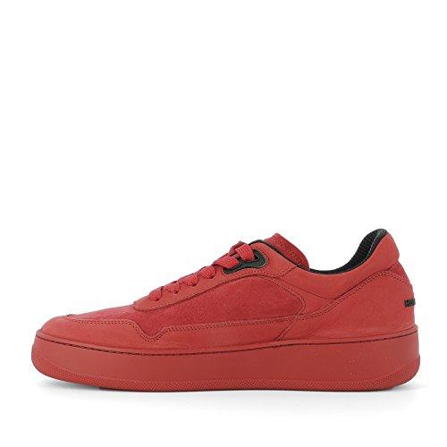 Hogan Rebel Sneakers Uomo HXM3050V950C7U0XGN Camoscio Rosso
