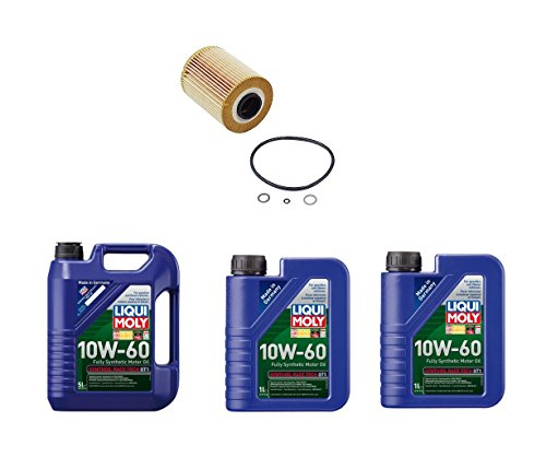 Set of 1 Engine Oil Filter 11427833769 + 7 Liters Engine Oil Liqui Moly 2024 (1) 2068 (2) for BMW E36 E46 M3 Z3 Z4 ()