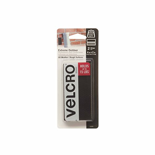 VELCRO Brand - Extreme Outdoor - 4' x 2' Strips, 2 Sets - Black