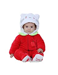XMiniLife Winter CuteToddler/Infant Hooded Romper,Red Cat