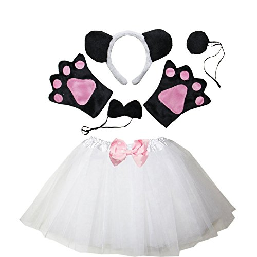 Kirei Sui Kids Costume Tutu Set White Panda