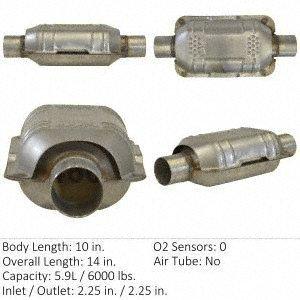 Honda Crx Catalytic Converter - Eastern 70317 Catalytic Converter (Non-CARB Compliant)