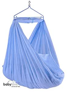 Baby Hammock/ Baby Cradle -South East Asian Sarong Cradle Rocker - BLUE NETTING BABY LOVE