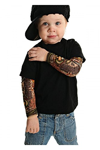 TotTude Little Boys' Chopper Tattoo Sleeve T Shirt 2T Black