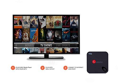 Kukele Unlocked 2GB/16GB Quad Core 64bits Android 5.1 Lollipop IPTV TV Box 4K Internet Streaming Media Player Wireless Keyboard with Media Center Player by KUKELE (Image #1)