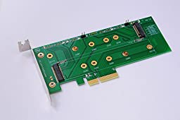 Bplus M2P4S M.2 (NGFF) PCIe base SSD to PCIe X4 Adapter