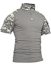 TACVASEN Men's Summer Military Tactical Sleeve Slim Fit Short Sleeve T-Shirt
