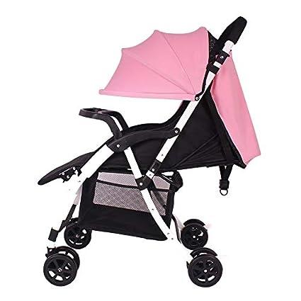 Baby Stroller Carrito de bebé Ligero Plegable Puede Sentarse ...