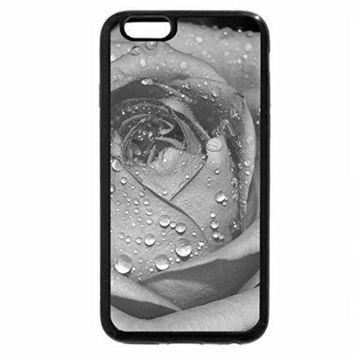 iPhone 6S Plus Case, iPhone 6 Plus Case (Black & White) - Rainy Rose for Smile of Jacquelinela