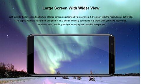Smartphone, DOOGEE X55 3G Teléfonos Móviles Gratis con Dual Sim, 5.5 Pulgadas (relación 18: 9) HD Android 7.1, Quad Core 1.3GHz 1GB + 8GB, cámara Triple (5MP + 8MP + 8MP): Amazon.es: Electrónica