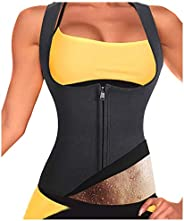 Women Neoprene Tank Top Sauna Sweat Vest Shapewear for Gym Workout Weight Loss Slimming