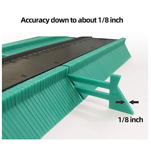 TIMESETL Duplicador de medidor de contorno 3PCS Herramienta de medici/ón de regla de contorno Duplicador de copia para formas irregulares Azulejos laminados Medidor de contorno de borde de madera