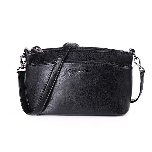 (AMELIE GALANTI Crossbody Bag for Women, Purses and Handbag Lightweight Vegan Shoulder Bag with Two Detachable Straps)
