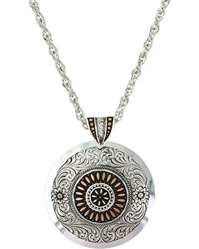 - Montana Silversmiths Women's Prairie Fire Concho Necklace Silver One Size