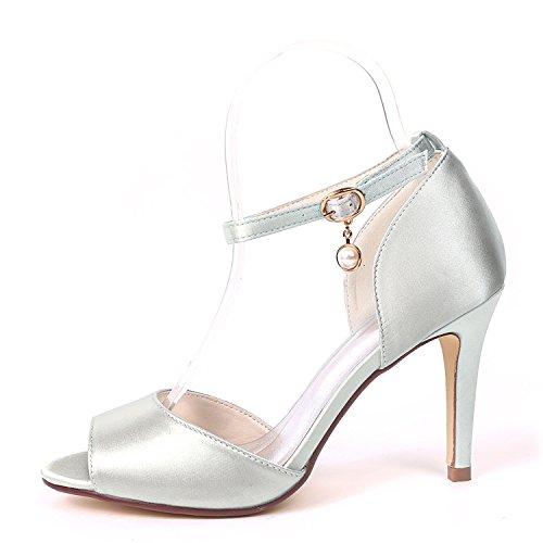 YC Las En Mujeres Grueso De Marfil De Corte Hebilla De L Zapatos De TamañO Bajos Tacones SatéN De Zapatos White Boda Prom Plataforma La XfYZxxFqd