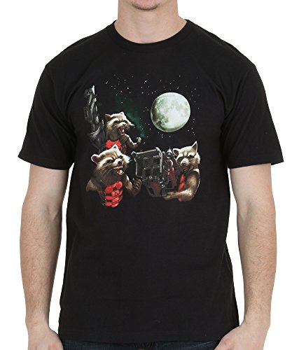 Guardians of the Galaxy Rocket Moon Trio T-Shirt