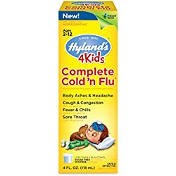 Hyland's 4 Kids Complete Cold 'n Flu Syrup, Natural Homeopathic Relief of Cold and Flu, 4 Ounces